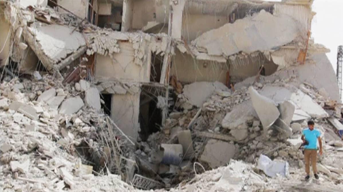 Tuhoja Aleppossa 25. syyskuuta.