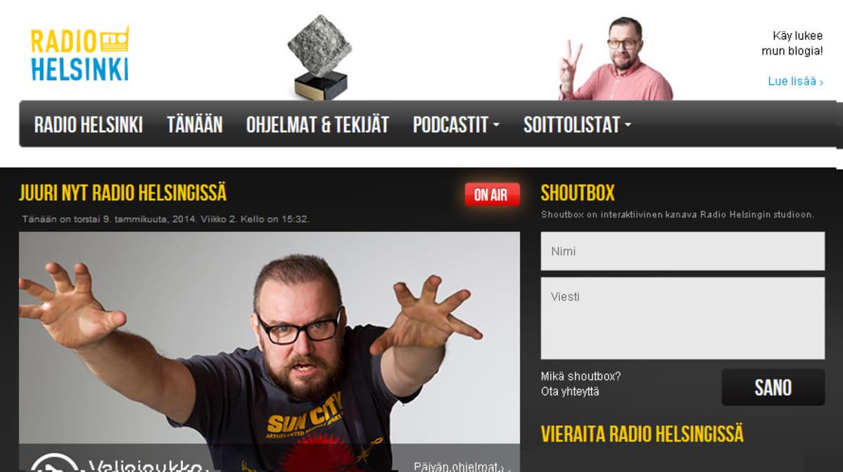 Radio Helsingin nettisivu