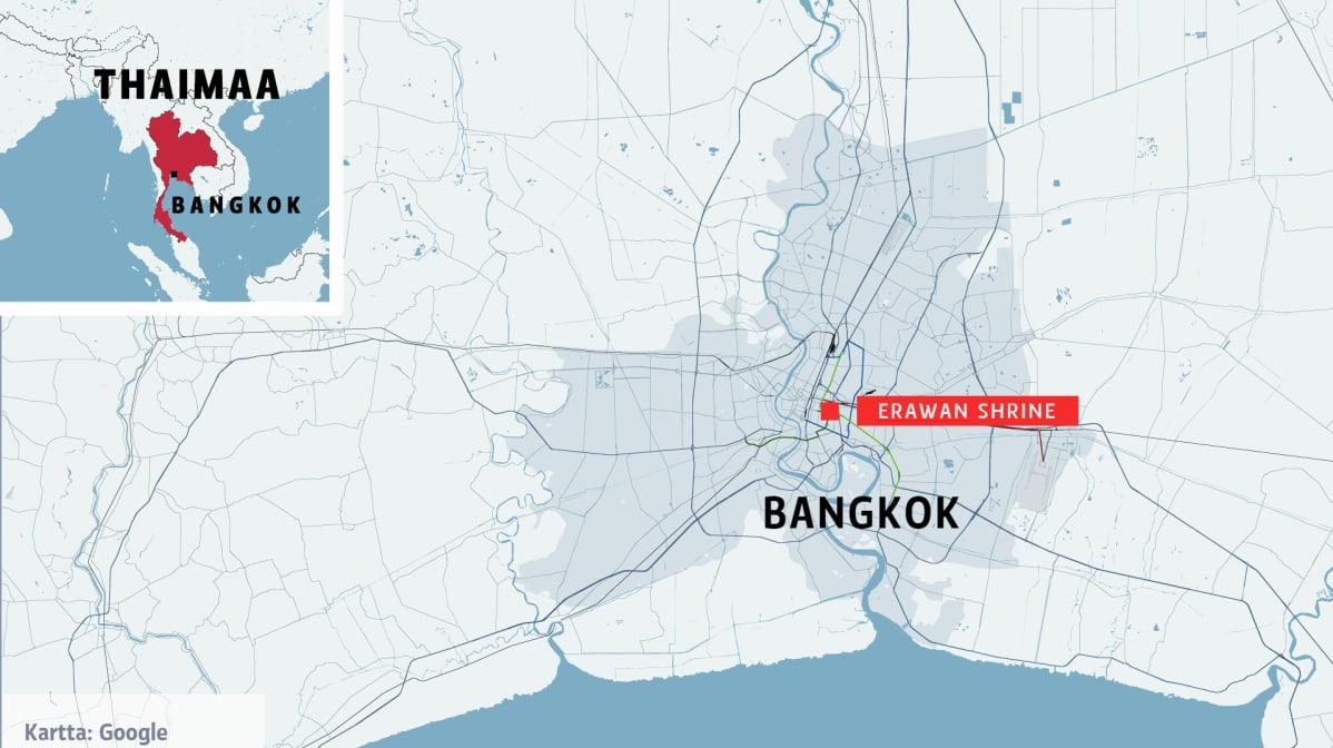Bangkokin Rajahdyspaikalta Loydetty Ainakin Kaksi Pommia Yle