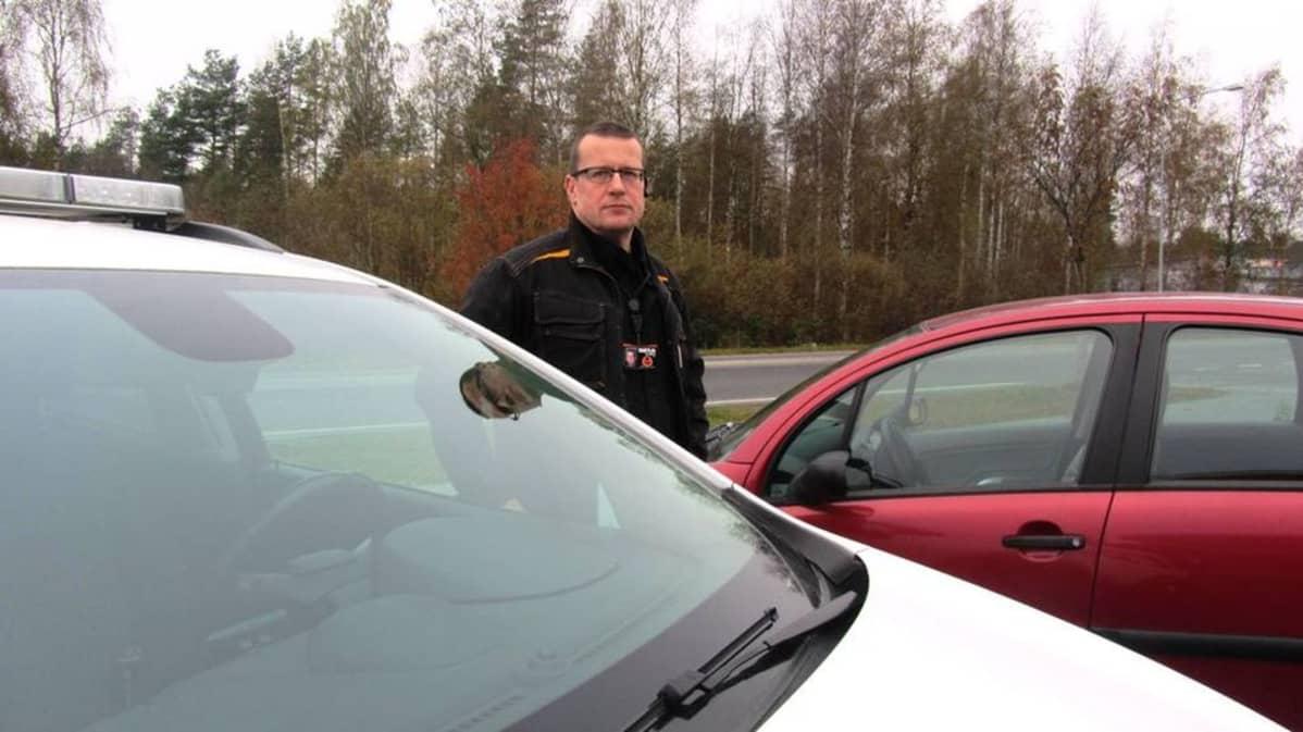 Vartiointipalveluyrittäjä Roy Mikkola.