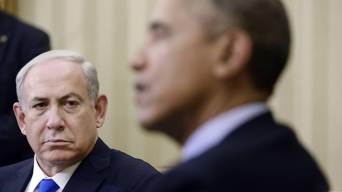 Benjamin Netanjahu ja Barack Obama.