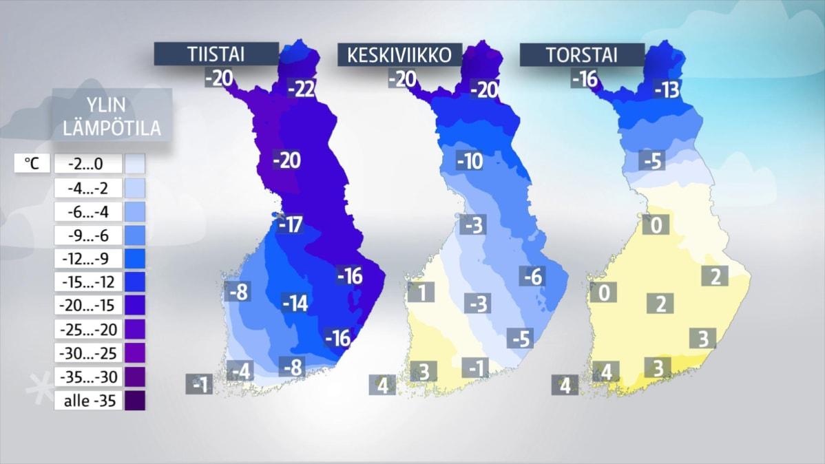 joulu 2018 lämpötila Lämpötila voi nousta paikoin jopa 25 astetta – Nopea lauhtuminen  joulu 2018 lämpötila