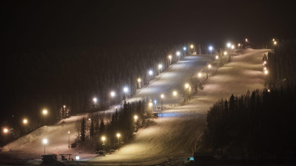 Лыжный склон.