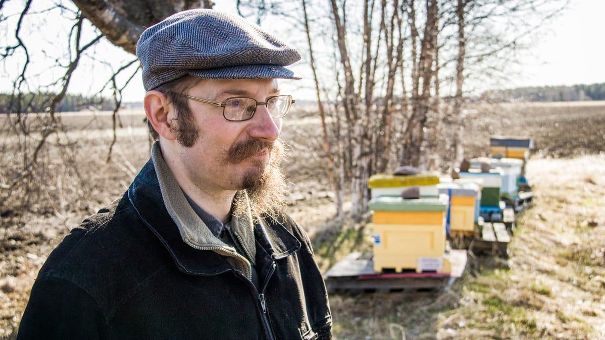 Suomen mehiläishoitajien  liiton puheenjohtaja Hannu Luukinen 2018.