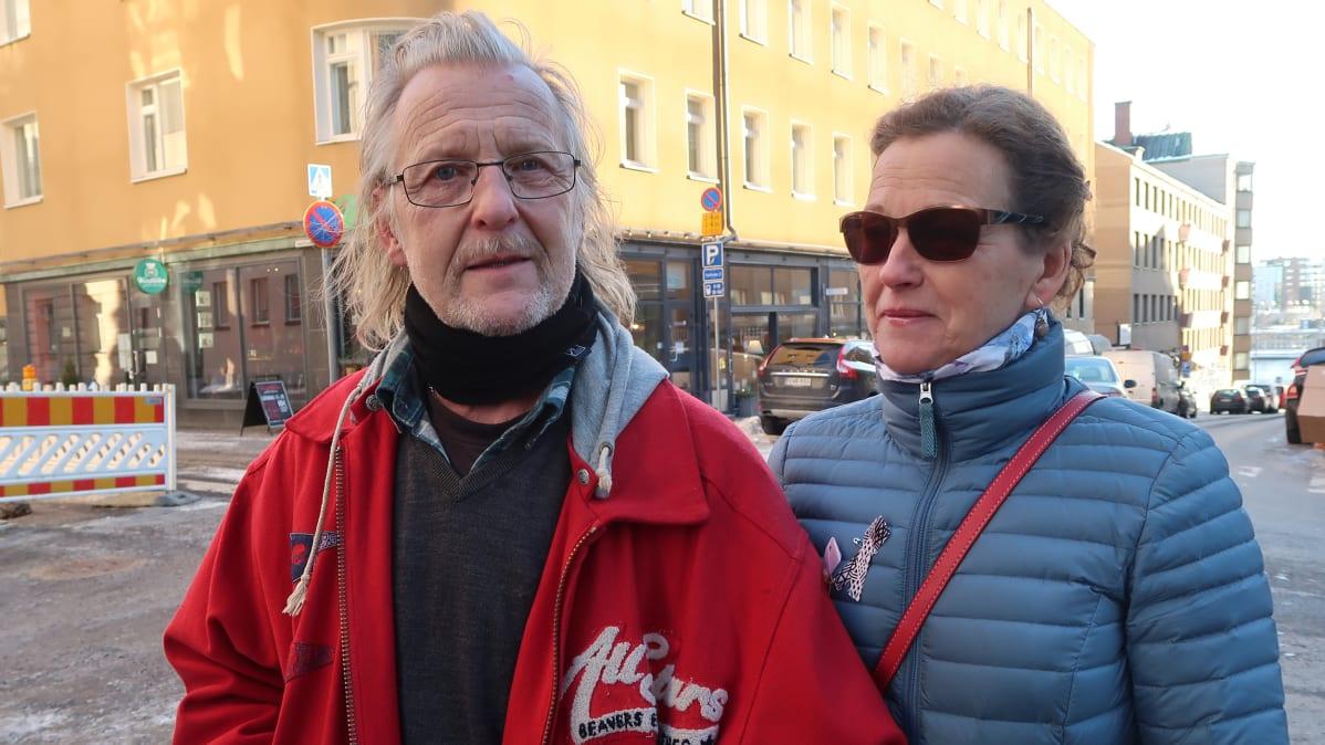Lempääläläiset Harri Kopra ja Ulla Lahtinen