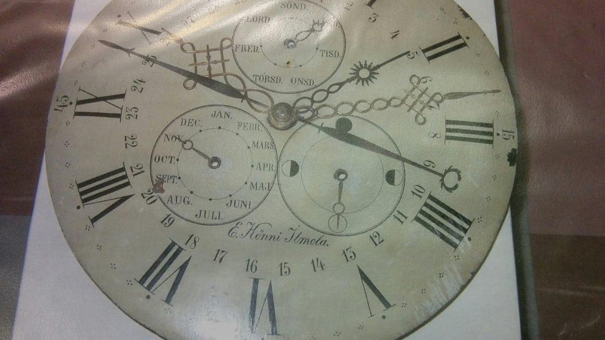 Toistaiseksi Tienhaaralla on vain kuva seitsenviisarisen kellotaulusta. fe59cbd434
