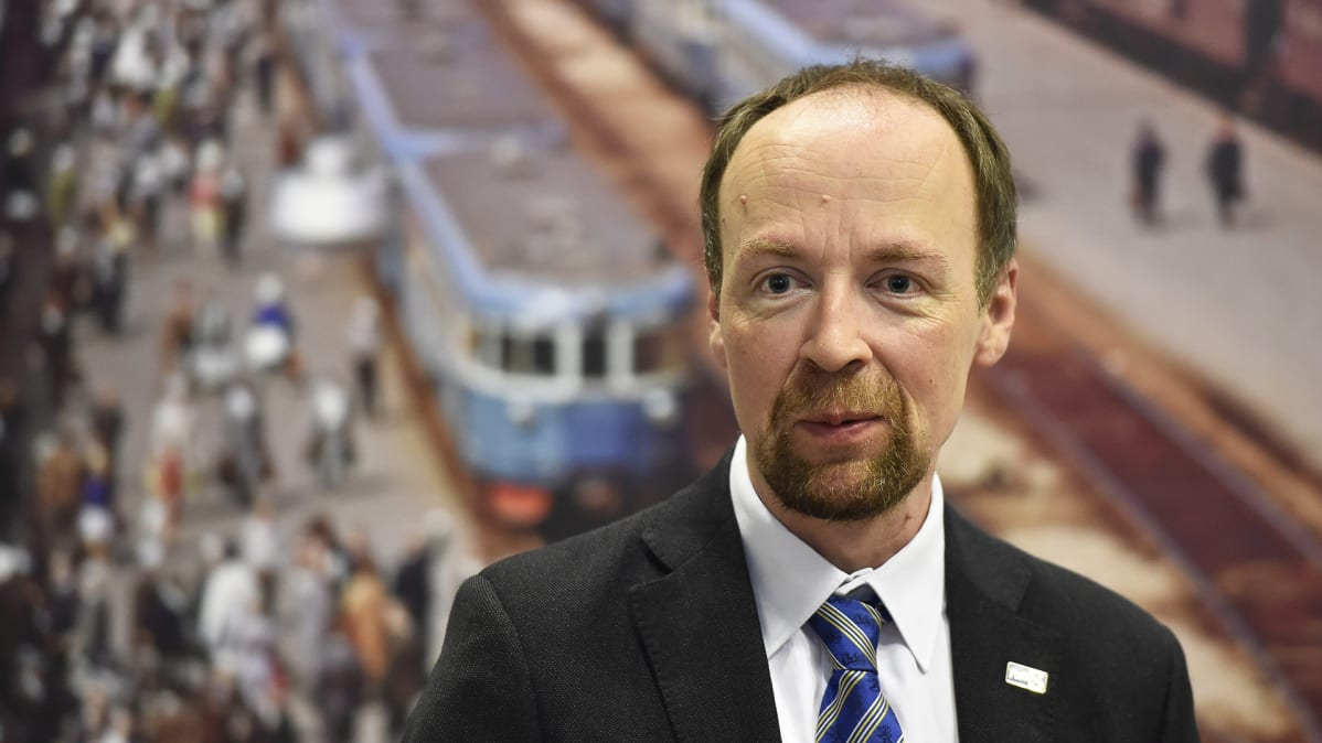 The Chairman of the True Finns Jussi Halla-aho at the meeting of the Finnish Parliamentarian Party in Hyvinkää.