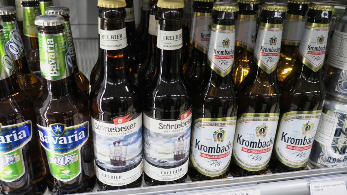 Alkoholittomia oluita.