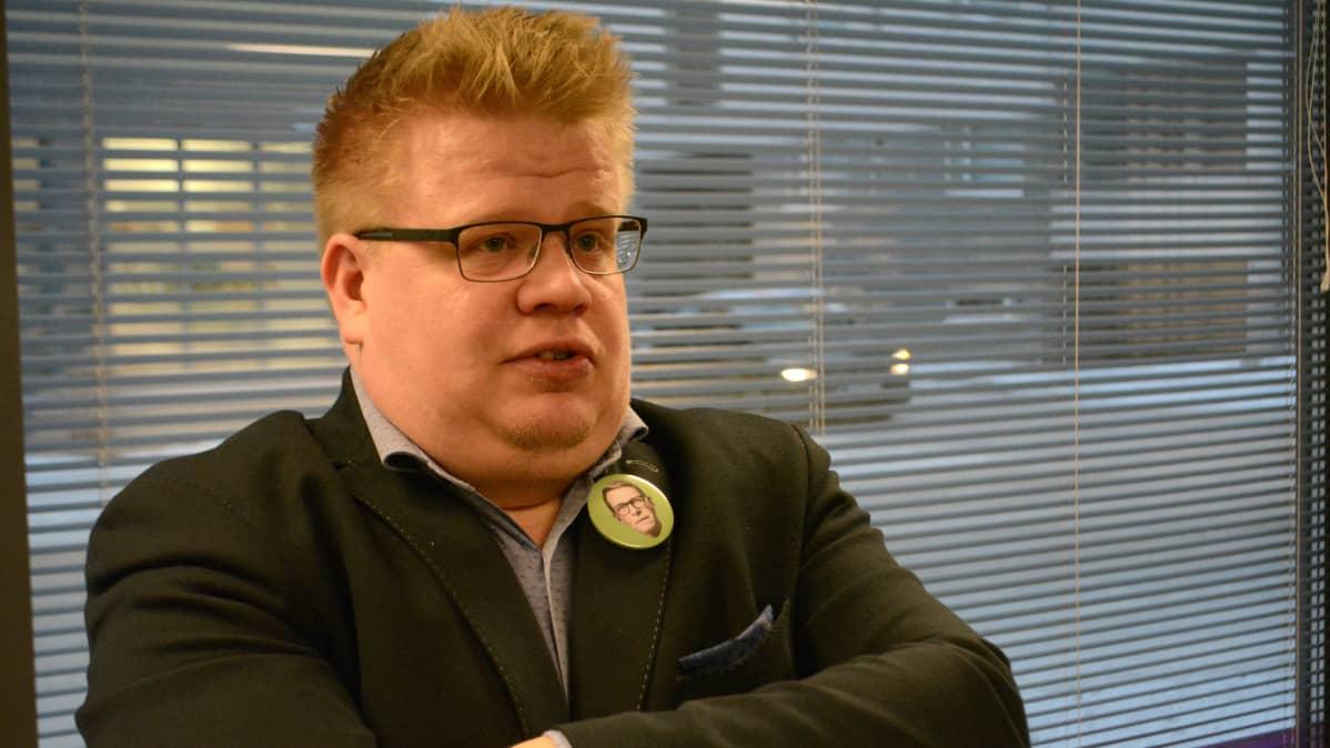 Keskustan Pohjois-Savon piirin toiminnanjohtaja Kimmo Valta