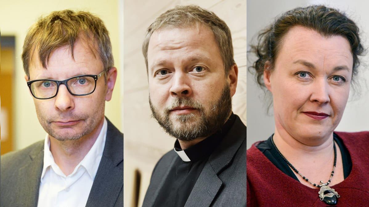 Heikki Hiilamo, Teemu Laajasalo ja Johanna Korhonen.