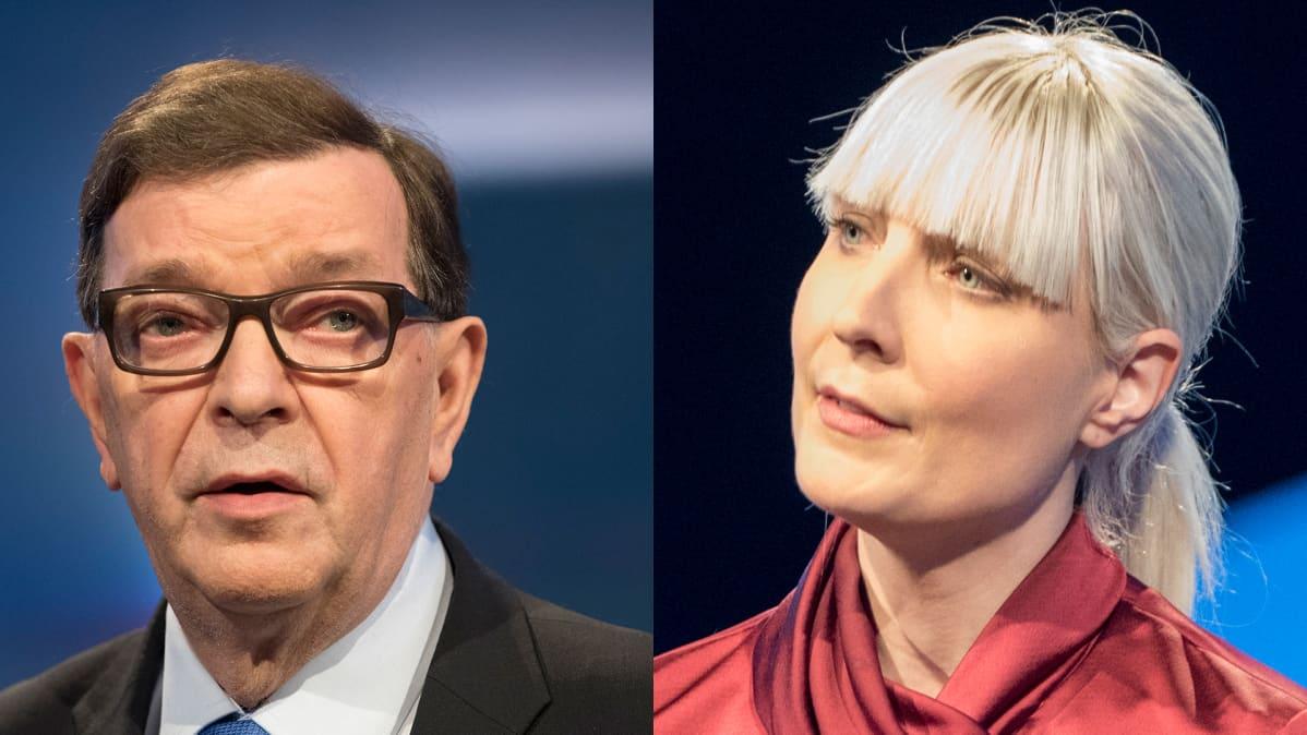 Paavo Väyrynen ja Laura Huhtasaari.