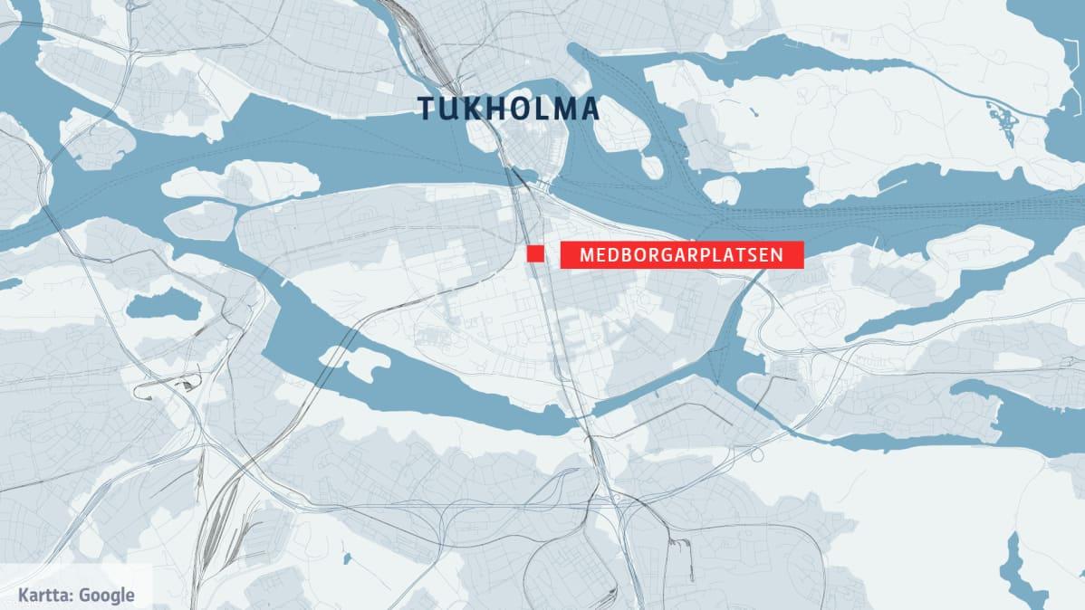 Kahta Miesta Puukotettu Tukholman Keskustassa Poliisi Ottanut