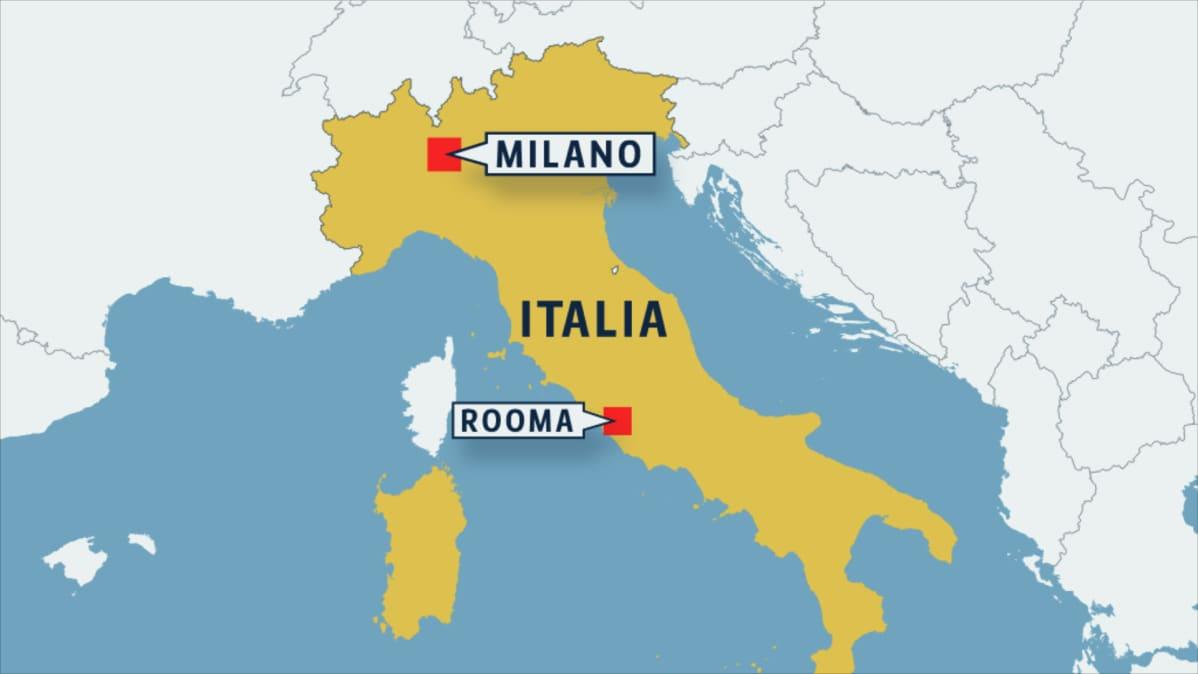 Italian kartta.