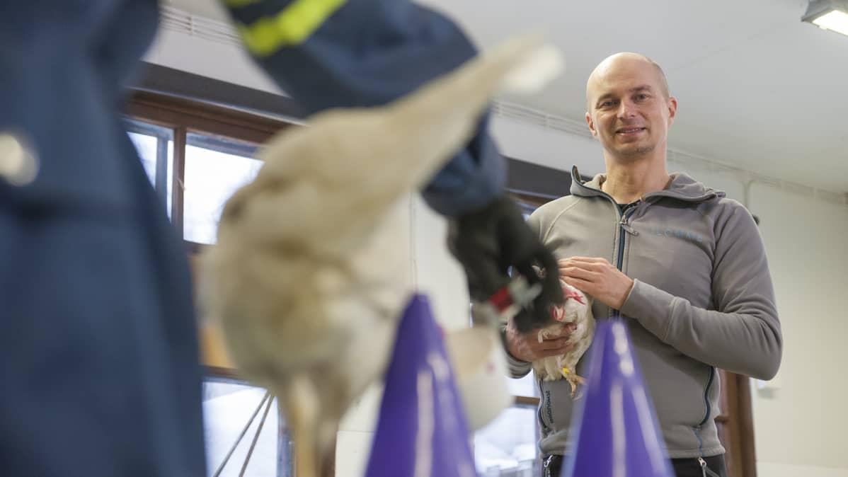 Eläintenkouluttaja, opettaja Harri Katainen