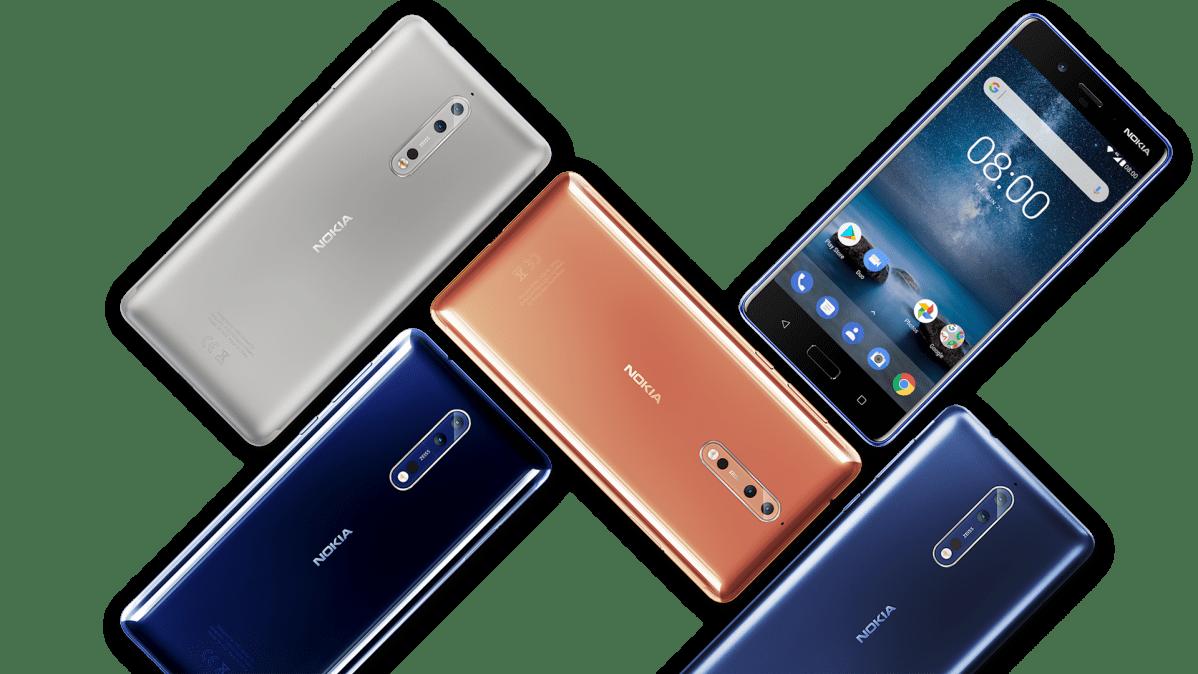 Nokia 8 -puhelimia