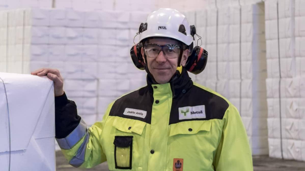 Tehtaanjohtaja Jaakko Anttila, Metsä Fibre Oy Joutsenon tehdas