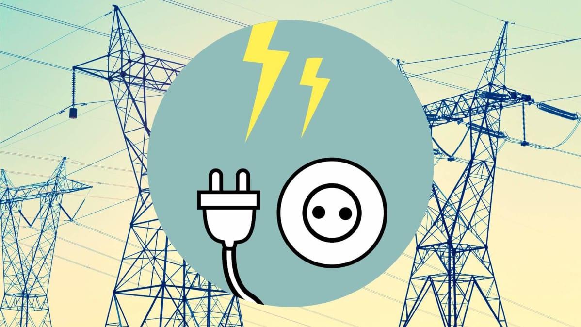 Sähkötöpseli -grafiikka.
