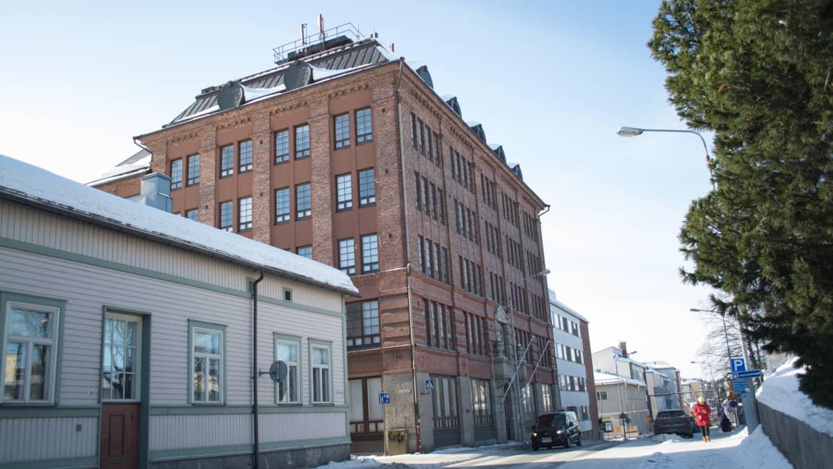 Konttisen liiketalo Kuopion keskustassa.
