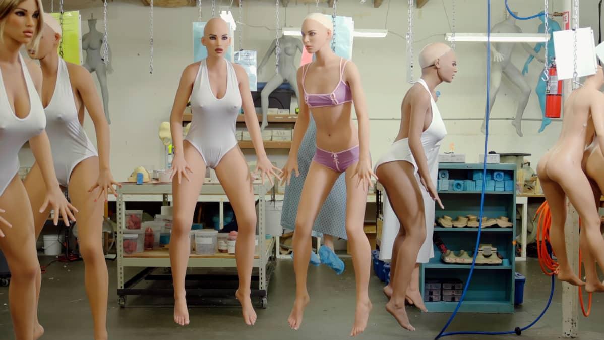 Seksirobottitehdas, seksirobottien kehoja.