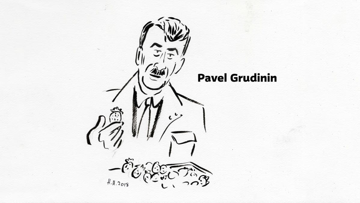 Piirros Pavel Grudinista