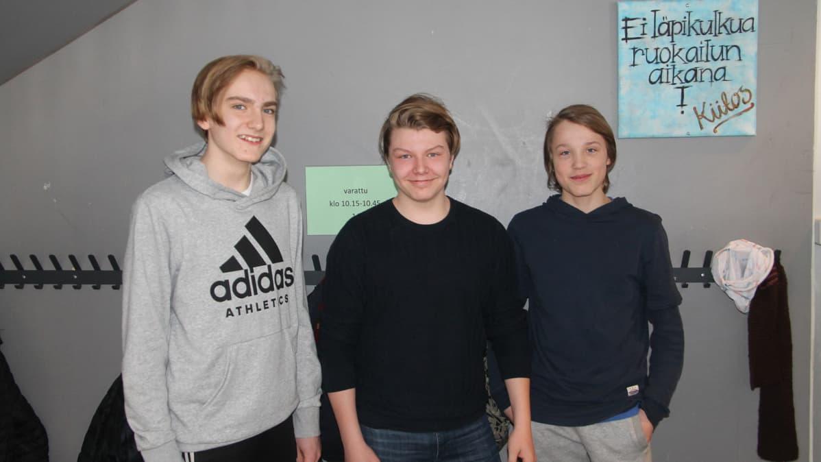 Roope Lakka, Nestori Sirenne ja Niklas Gröhn
