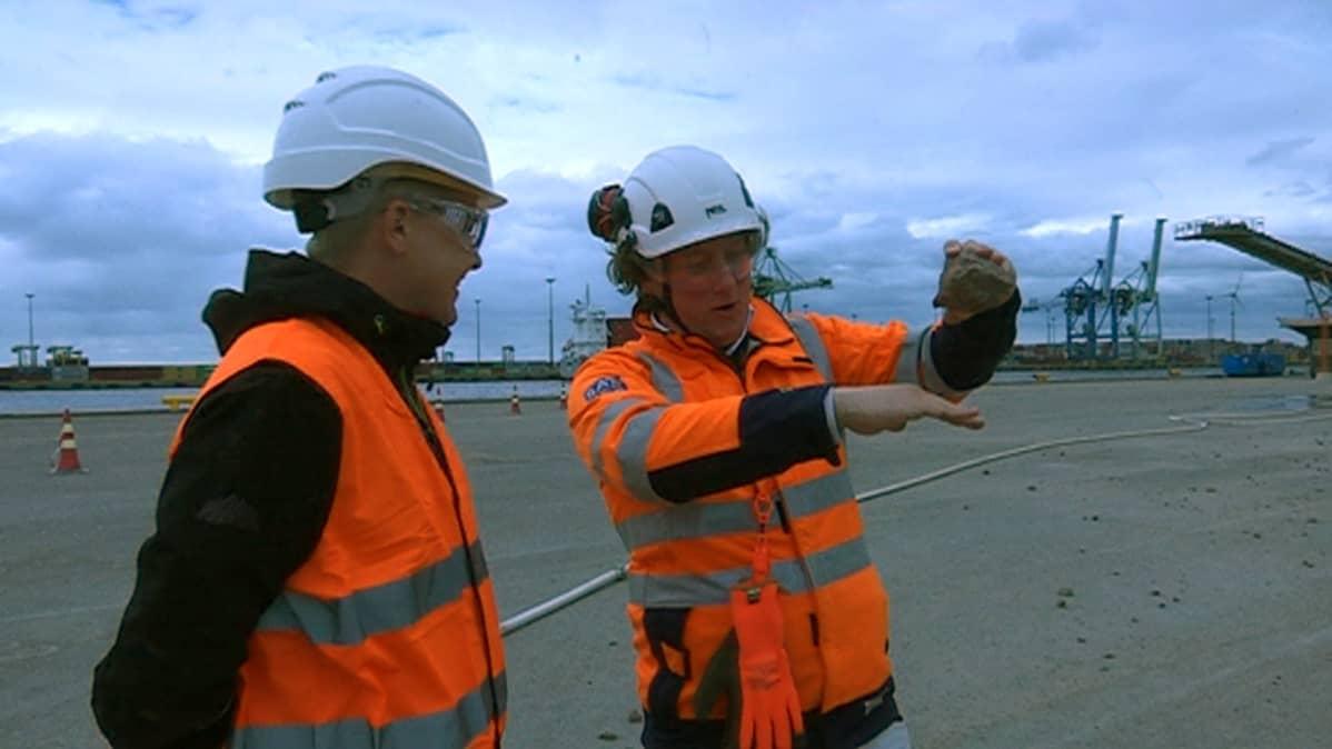 Itämeren kaasuputkilinjan töihin käytetään paljon myös suomalaista graniittia