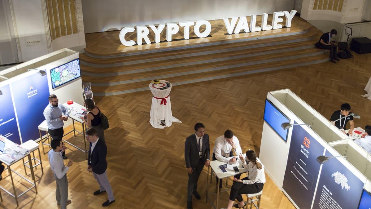 Tapahtuma Crypto Valleyssa.
