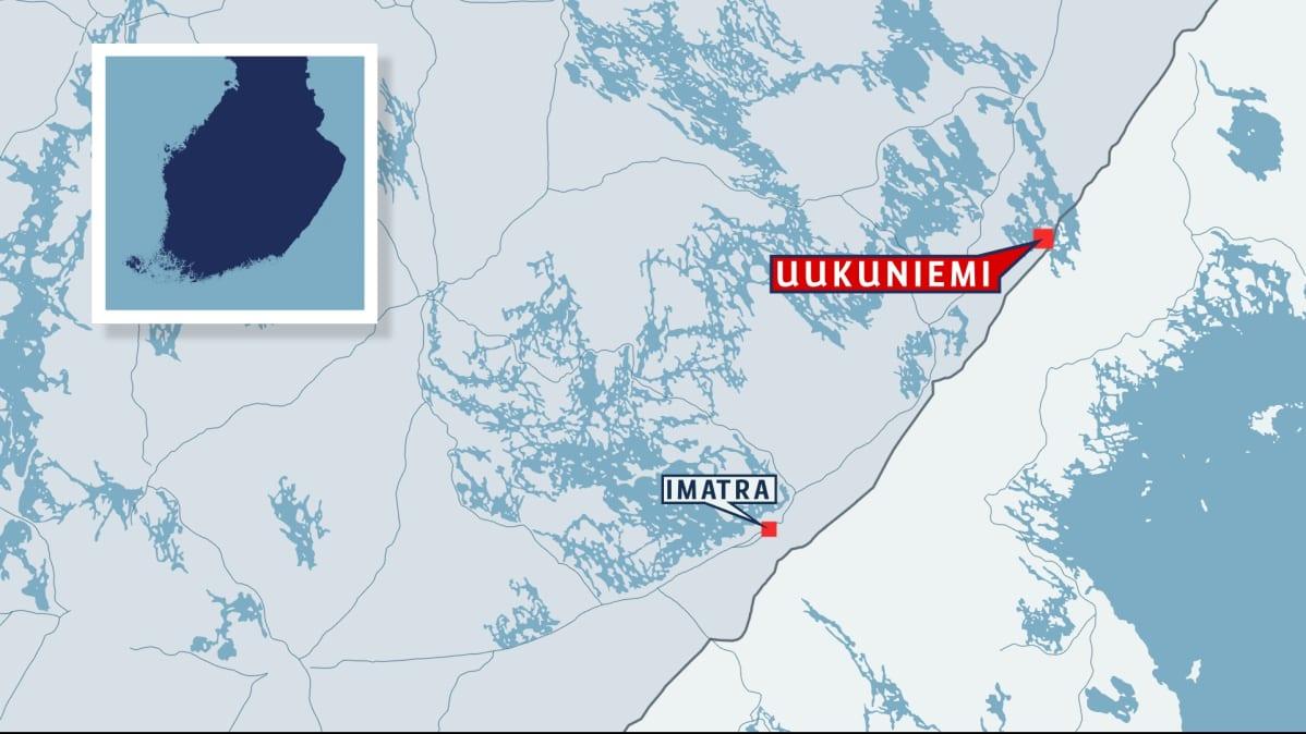Uukuniemi Suomen kartalla