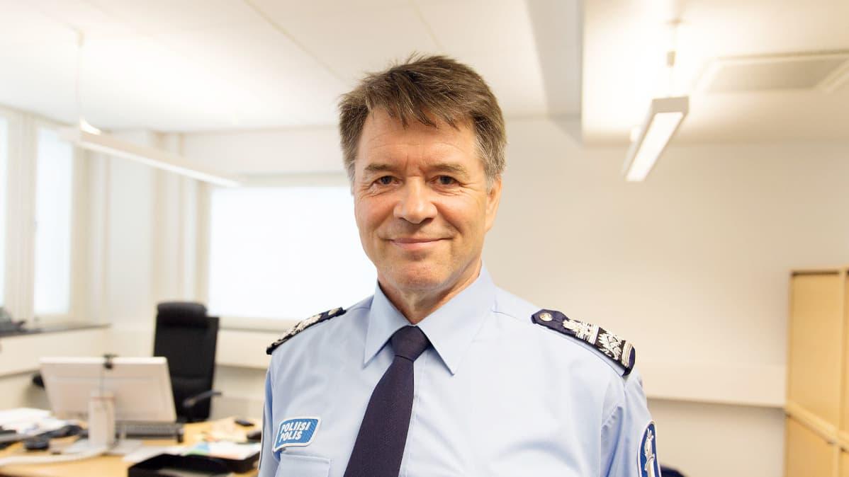 Itä-Uudenmaan poliisilaitoksen poliisipäällikkö Kari Rantala.