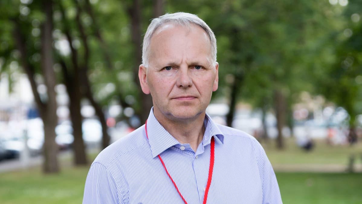 Maatalousministeri Jari Leppä Porin SuomiAreenassa.