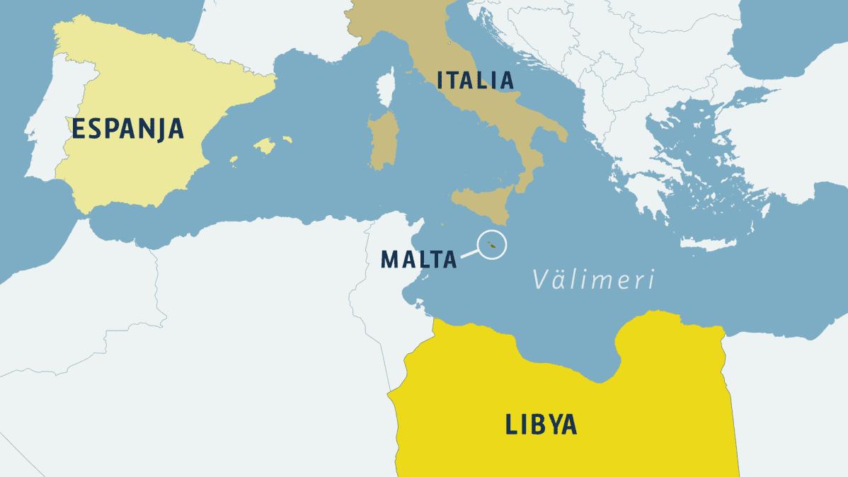 Välimeren unohdettu ongelma  - karttagrafiikka