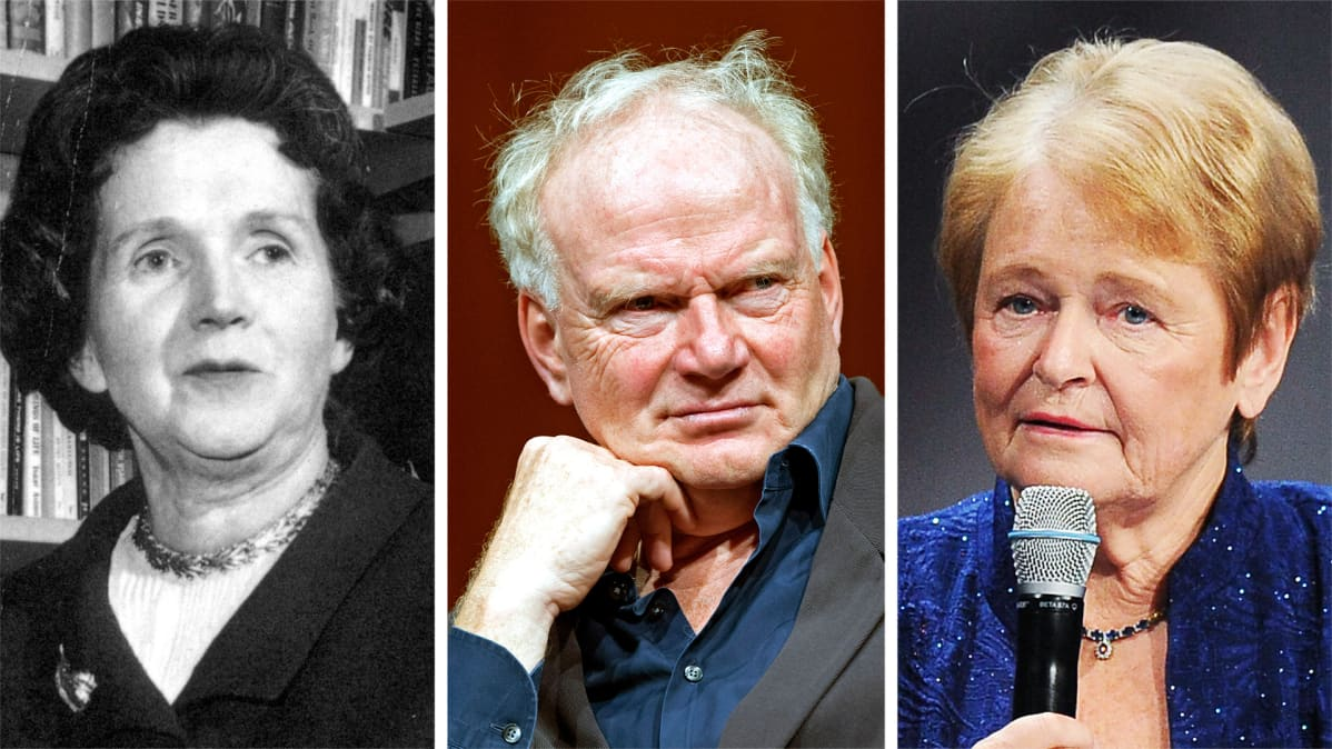 Rachel Carson, Ulrich Beck ja Gro Harlem Brundtland.
