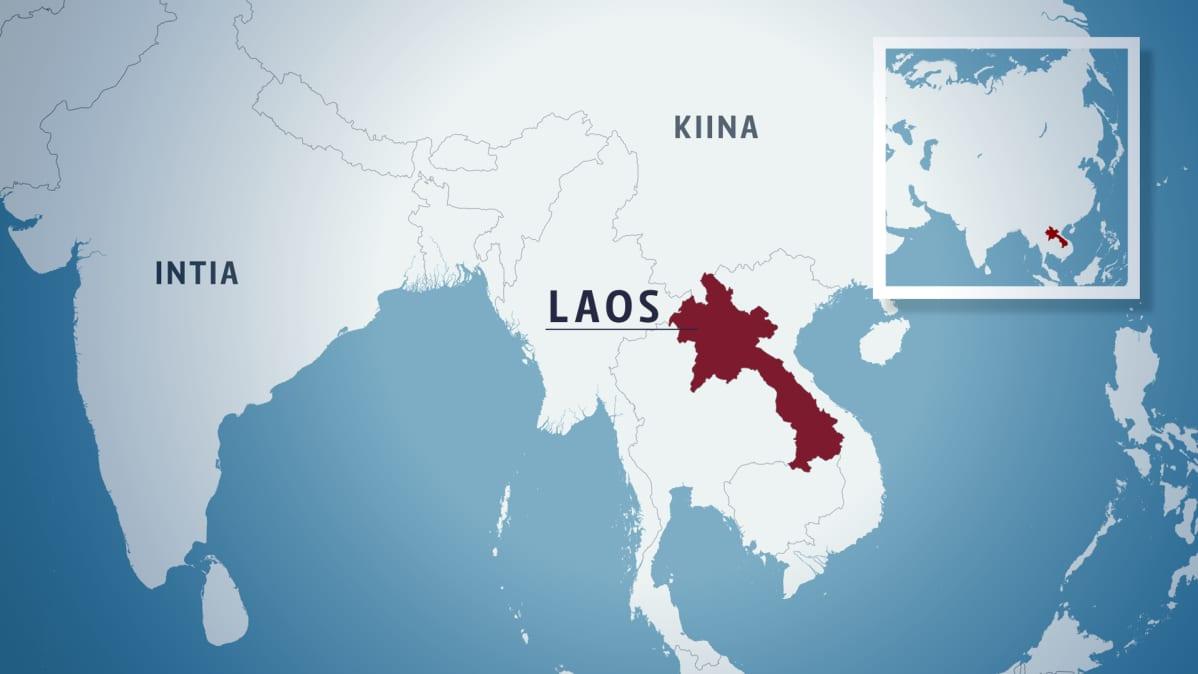 Laos kartta