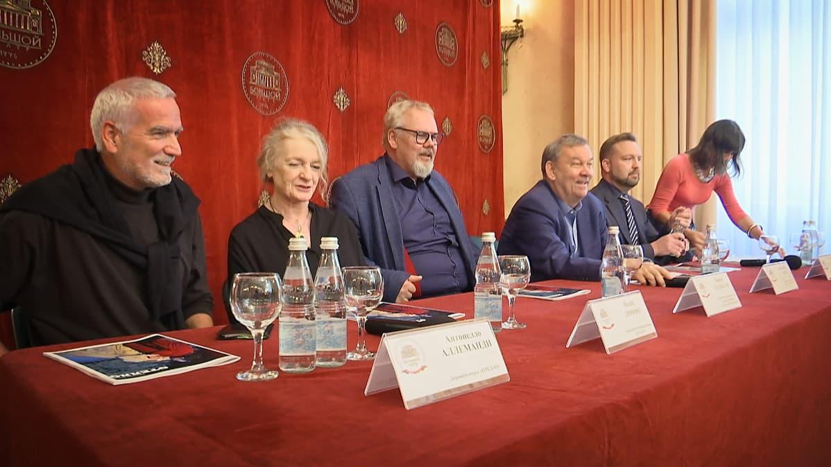Bolshoi-teatteri tiedotustilaisuus