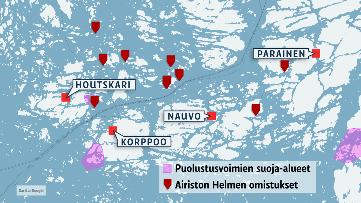 Kartta Turun saaristosta