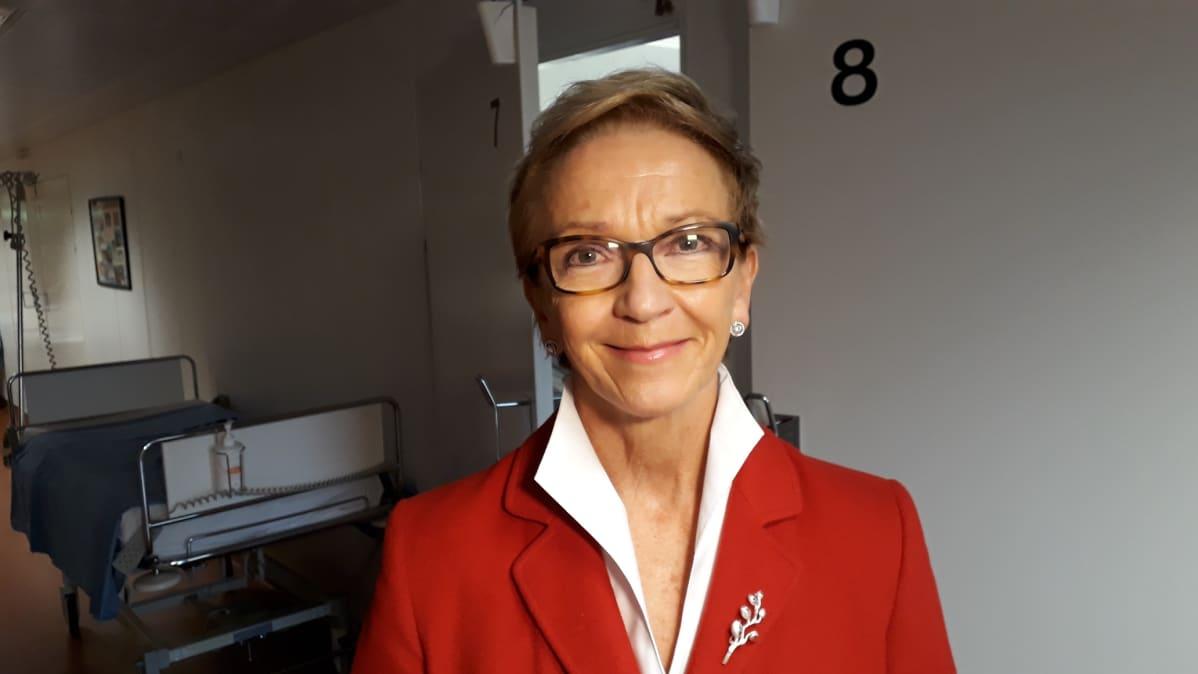 Ylilääkäri, professori Seija Grénman.