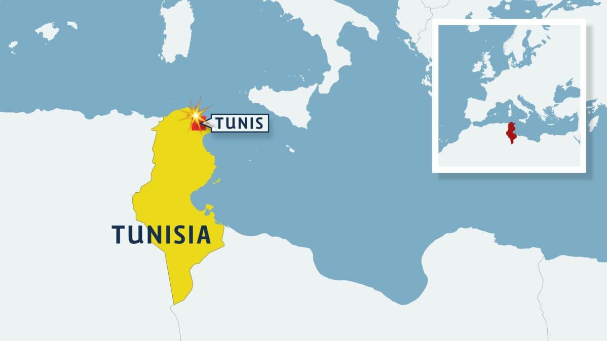 Tunisian kartta