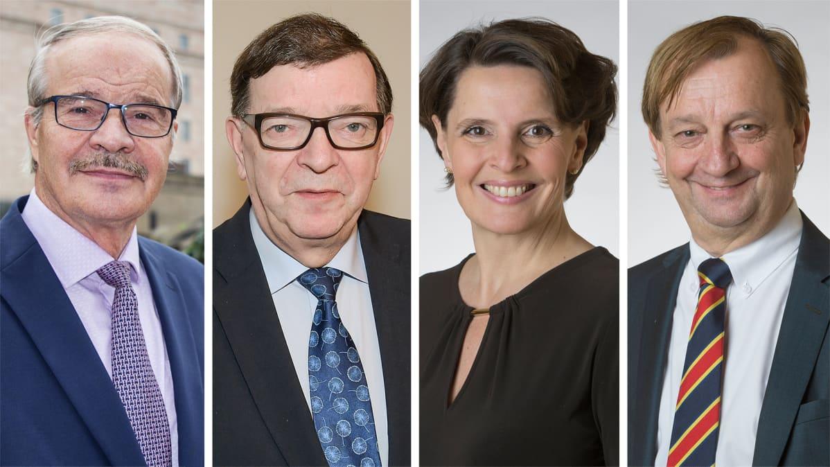 Eero Reijonen, Paavo Väyrynen, Anne Berner ja Harry Harkimo.
