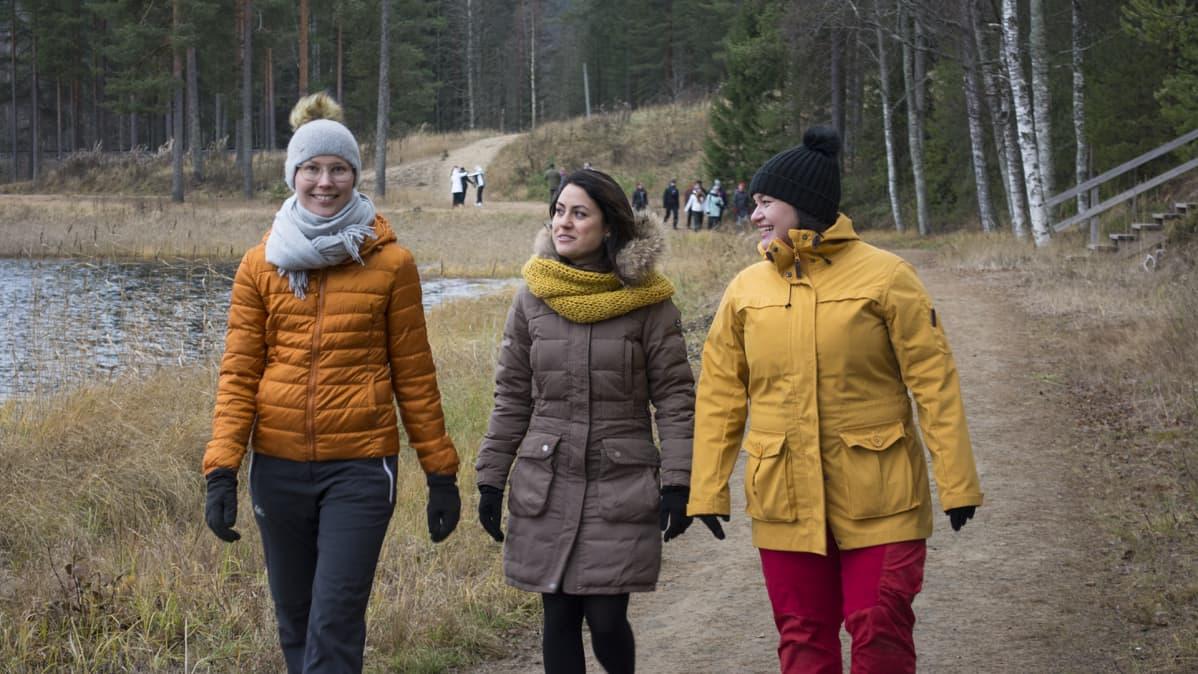 tutkija Maija Lipponen, tutkijatohtori Angela Moriggi ja yrittäjä Kirsi Puuronen