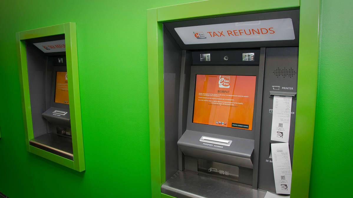 Taxfree palautusautomaatti