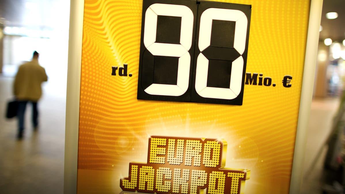 EuroJackpot-jättipotin mainos .