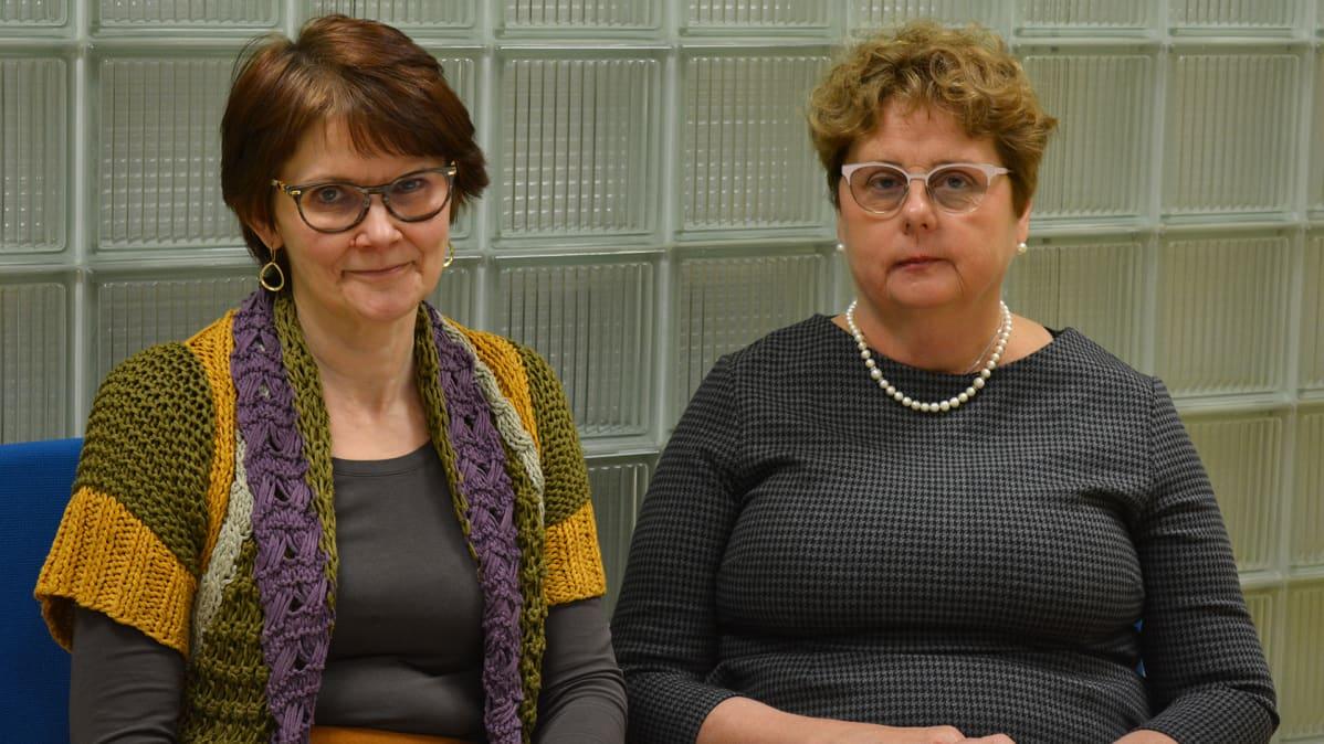 KTO:n kehittämis- ja asiantuntijapalveluiden johtaja Oili Sauna-Aho sekä johtava ylilääkäri Seija Aaltonen.
