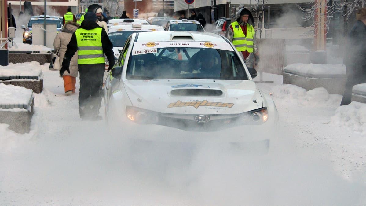 Arctic Lapland Rallyn autot Rovaniemen Lordin aukiolla 25.1.2019