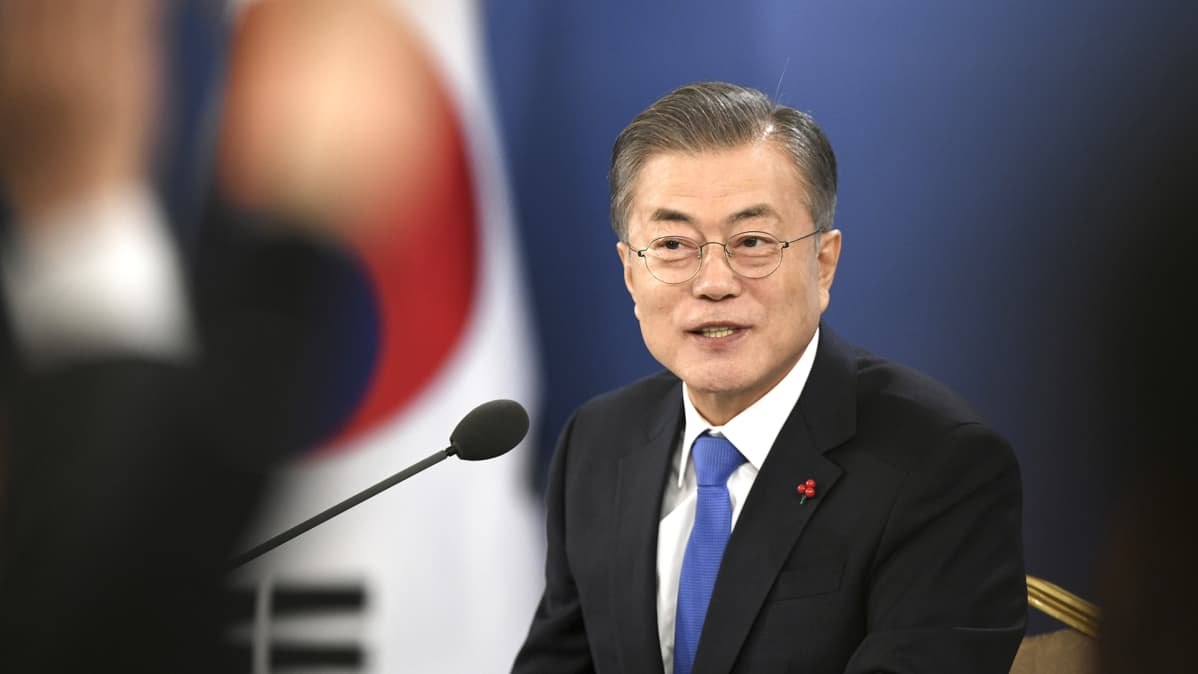 Etelä-Korean presidentin Moon Jea-in