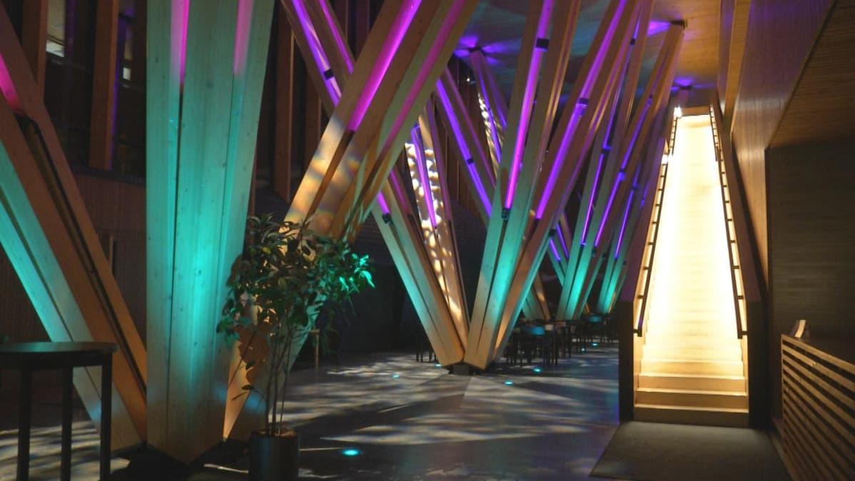Metla-talon ala-aulan virtuaaliluonto.