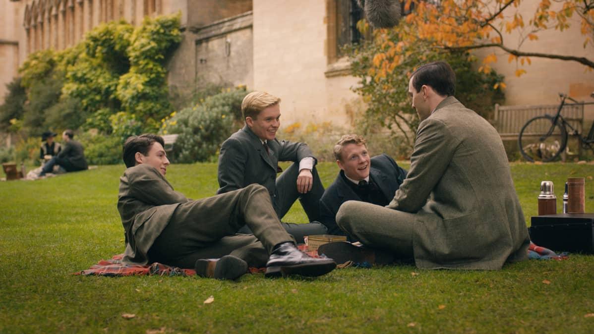 Anthony Boyle, Tom Glynn-Carney, Patrick Gibson ja Nicholas Hoult.