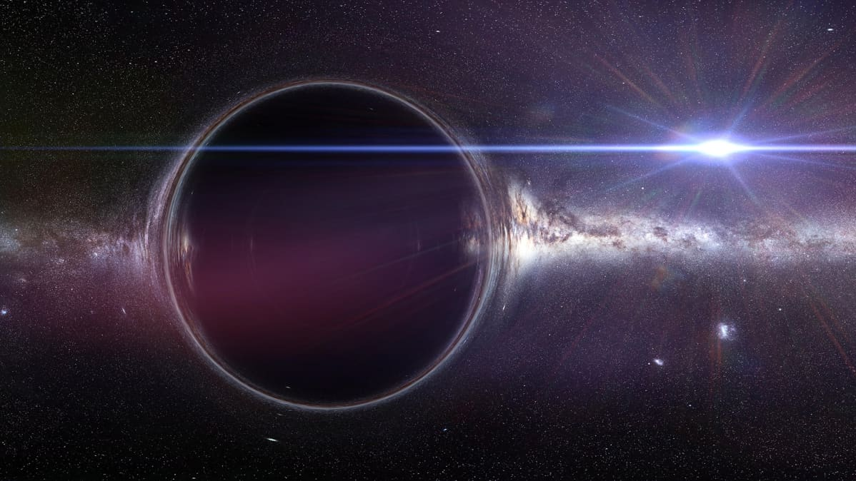 musta aukko kuvituskuvassa.