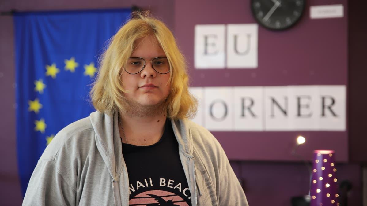 Lukiolainen Oskar Englund Haaparannan Tornedalsskolanista.