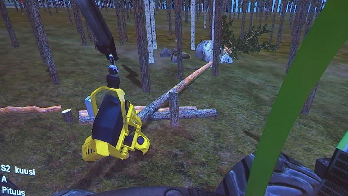 Metsäkonesimulaattori