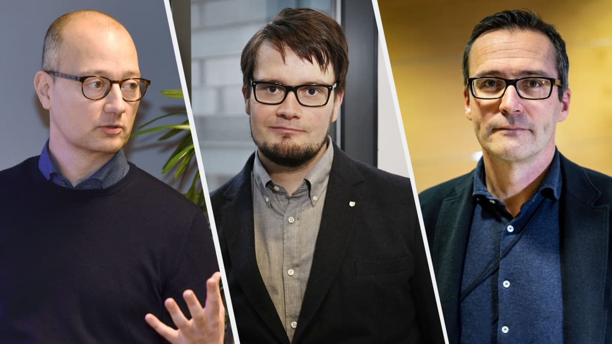 Niku Määttänen, Tuomas Kosonen ja Mikko Kautto.